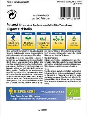 Petersilie Gigante de Italia Bio-Saatgut von Kiepenkerl - Gemüse-Saatgut auf Du und dein Garten