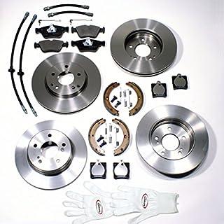 Autoparts-Online Set 60004308 Bremsscheiben Kit + Bremsschläuche Vorne + Hinten