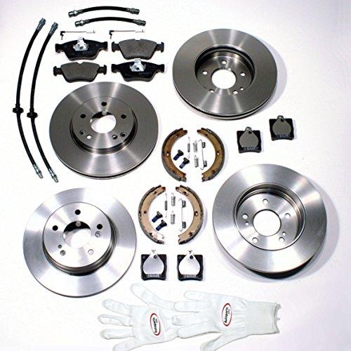 Preisvergleich Produktbild Autoparts-Online Set 60003355 Bremsscheiben Set + Beläge Sensoren Bremsschläuche Handbremsbacken Zubehör vorne hinten