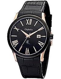 Orphelia Herren-Armbanduhr XL Analog Quarz Leder OR32671044