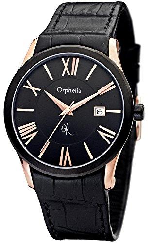 Orphelia OR32671044 - Reloj de pulsera hombre, piel, color negro