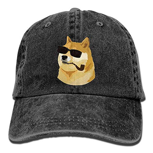 Deus God Doge Shiba Inu Dog Unisex Washed Twill Cotton Baseball Cap Vintage Adjustable Dad Hat