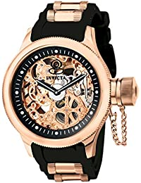 Invicta Russian Diver Men's Analogue Classic Mechanical Watch with Polyurethane Strap – 1090