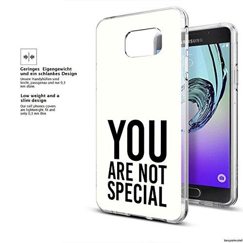 Motivo Serie 1 Custodia Rigida Iphone - You are non speciale nero, Samsung Galaxy S5 You are non speciale bianco