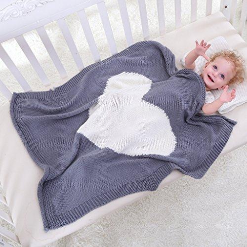 Gazechimp Weiche Strickdecke Schlafen Swaddle Wrap Für Kleinkind Baby - Weiß, wie beschrieben
