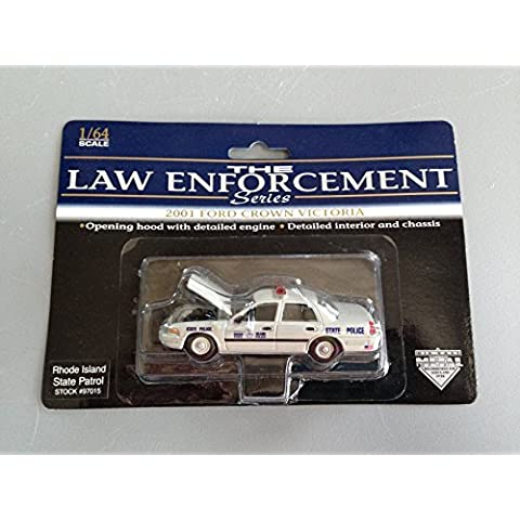 1:64 Die-cast 'RI State Police' 2001 Ford Crown Victoria by The Law Enforcement Series