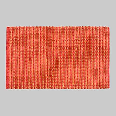 Dormitorio MOREY algodón hecho a mano Colchón puerta Mat puerta de la sala Cama borde del colchón otomanos geométricas simples (Naranja) ( Tamaño : 120*170CM