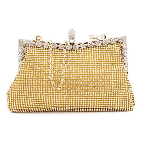 Moda Mini-lusso Moda Festa Casual Borsetta Oro
