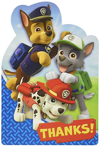 Amscan International Paw Patrol Thank You Form (Amazon Paw Patrol Kostüme)
