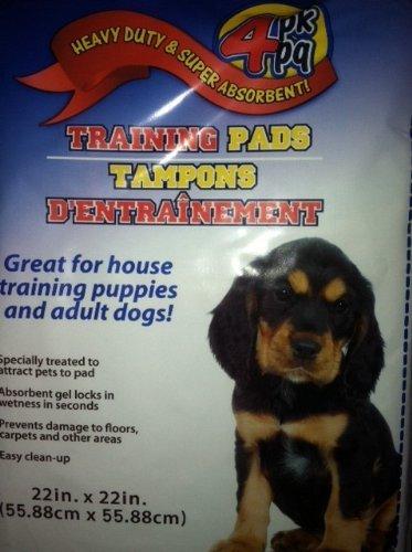 Generic Heavy Pflicht & Super Saugfähige Training Pads für Welpen und Erwachsene Hunde, 55,9x 55,9cm, 4Stück -