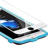 Verre Trempé iPhone 8 / iPhone 7 Couverture Complète (Blanc) [Kit d'installation Offert], ESR Film Protection en Verre Trempé écran Protecteur Ultra Résistant Indice Dureté 9H pour iPhone 8 / iPhone 7 (Blanc)