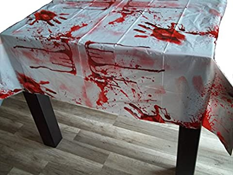 Blutige Tischdecke Blutdecke Halloweendeko Halloween