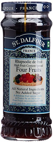 Charles Jacquin-St.Dalfour Consrv, 4 Fruits, 100%Fruit, 10-Ounce (Pack of 6)