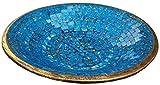 Guru-Shop Blaue Mosaikschale Rund, Größe: Gross (Ø 46 Cm), Mosaikschalen