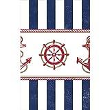 """Amscan–Anclaje de anclas náuticas parte funda para mesa rectangular vajilla, multicolor, 54""""x 102"""""""