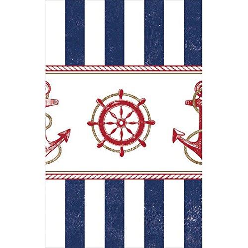 amscan Anchor 's Los Nautical Party Rechteckiger Tisch, Geschirr, Multicolor, 137,2x 259,1cm -
