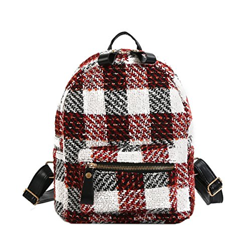 Frauen Rucksack Student Bag Casual Plaid Tasche,Style2 Style1