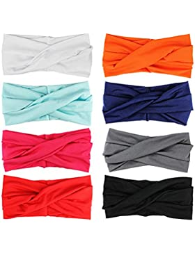 Turbante Para Mujer Color Puro Venda De Pelo Diadema Accesorios Para El Cabello