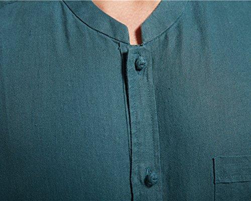 Insun Herren Freizeit-Hemd Grün
