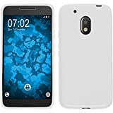 PhoneNatic Case für Motorola Moto G4 Play Hülle Silikon weiß S-Style + 2 Schutzfolien