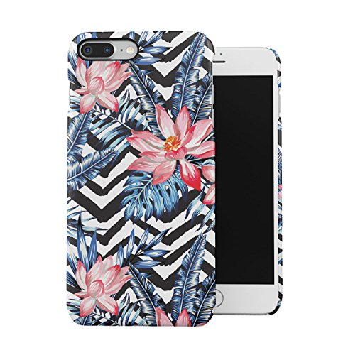 Tropical Floral Flowers Aloha Hawaii Exotic Jungle Pattern Print Apple iPhone 7 Snap-On Hard Plastic Protective Shell Case Cover Custodia Pink Lotus