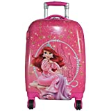 #8: Texas USA 22 inch PRINCESS3 Printed Polycarbonate 4 wheel KidsTrolley Bag