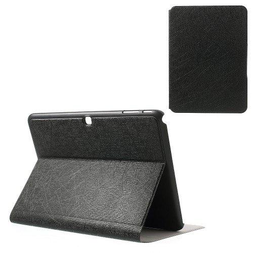 jbTec® Tablet-Hülle / Tasche zu Samsung Galaxy Tab 4 10.1 / SM-T531, LTE / SM-T535, WiFi / SM-T530 - LINES Schwarz - Case, Schutzhülle, Cover