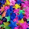 1 Beutel Reflektoren Sterne, 36 Stüe Bunte Stern Fahrrad Rad Speiche Perlen Leuchtenden Kunststoff Clip Speiche Perle Fahrrad Perlen Draht Perlen Dekorationen