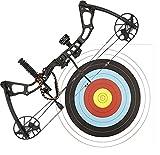"SET: G8DS® Compound Bogen Set ""Chikara"" 15-70 lbs 300 FPS 330 km/h High-End-Bogen inkl. 4 Carbon Pfeilen + G8DS® Zielscheibe 40 x 40"