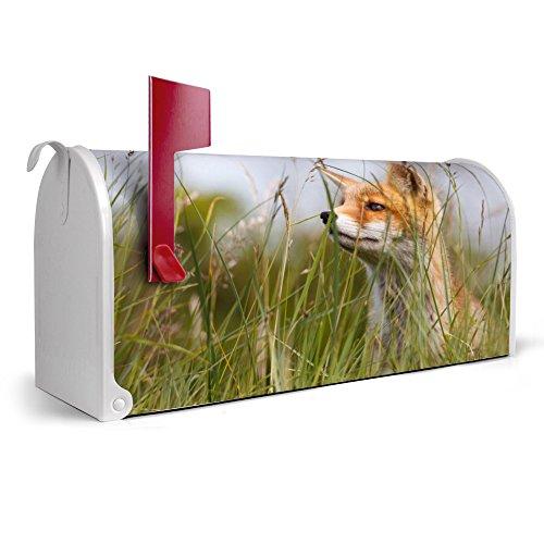 banjado-weier-Amerikanischer-Briefkasten-USA-Mailbox-17cm-x-22cm-x-51cm-mit-Motiv-Fuchs