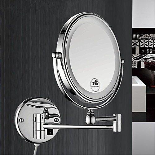 SYW dazu geführt, kosmetikspiegel, bad - schönheit spiegel wall hanging magnifier mit lampe rasierspiegel 8 zoll / 3