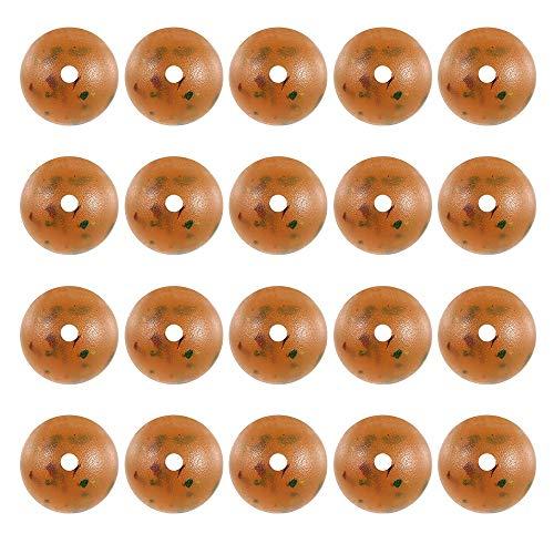 Haiyemao Weiche Gummiperlen zum Angeln 20 STÜCKE Kunststoff Block Perlen Runde Perlen Fischköder Köder Perlen Angelgerät Zubehör Angelperlen aus weichem Gummi für Angler -