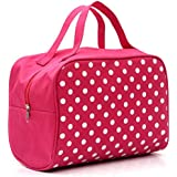 Alonea Portable Entrancing Multifunction Travel Cosmetic Bag Makeup Toiletry Case Pouch (Hot Pink)