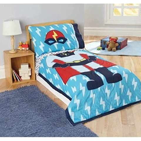 Child of Mine by Carter's Superhero 4-Piece Toddler Bedding Set