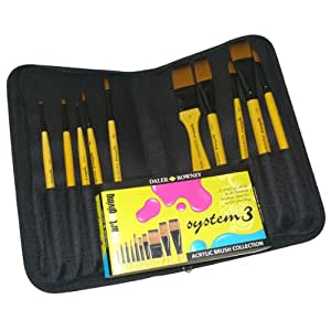Daler - Rowney System 3 Brush Zip Case (Set of 10)