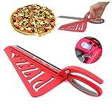 Home Papa Edelstahl Pizza Schere mit abnehmbaren Spachtel und Sicherheitsschalter