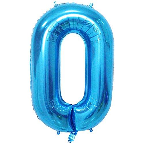 YOGINGO 40 Zoll Aufblasbare Große Anzahl Ballons Digit Folie Geburtstag Hochzeit Dekoration Anzahl - Blau 0