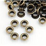 Skyllc® 200X Remaches Metal Redondo 8mm Bronce Tachuelas Bolsa/Calzado/Guante