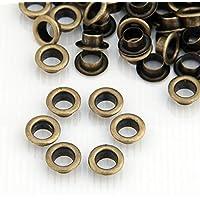 Skyllc® 200X Remaches Metal Redondo 10mm Bronce Tachuelas Bolsa/Calzado/Guante