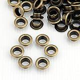 Skyllc® 200x Bronze Metall rund Ösen/Eyelets/Nieten 10mm