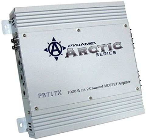 Pyramid PB717X Arctic Series 1000W 2 Channel Mosfet Stereo Car Amplifier
