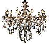 XIAOJIA European Crystal Kronleuchter, Candle Living Room Kronleuchter, Restaurant Hotel Projekt dekorative Leuchten, F