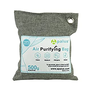 Apalus Natural Air Purifying Bag, Reusable Bamboo Activated Charcoal Air Freshener For Car | Closet | Kitchen Odor Absorber, Car Air Dehumidifier, Mold Remover, Deodorizer and Purifier Bags,500G