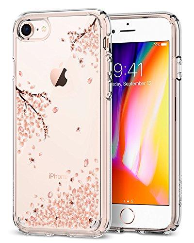 iPhone 8 / 7 Hülle, Spigen® [Crystal Shell] iPhone 8 Hülle, Extra-Schock Absorption [Rose Crystal] Durchsichtige Rückschale + Ausgeführtes TPU-Bumper Schutzhülle für Apple iPhone 7 Hülle / iPhone 8 Ca CS Blossom Clear Crystal