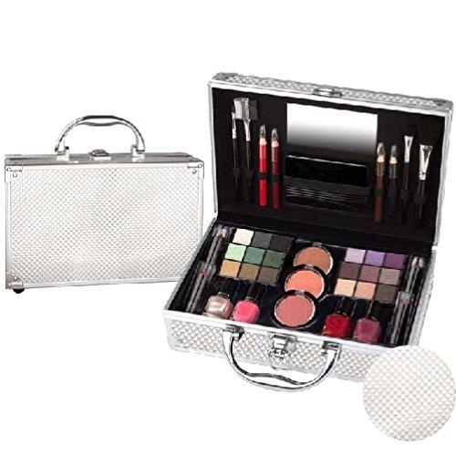 Kosmetik Make-up Schminke ALU-Koffer gefüllt 44 teilige Schminkkoffer(b257)