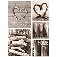 Graham & Brown Canvas Wall Art Pictures Home Sweet Home 5 Pieces 943 preiswert