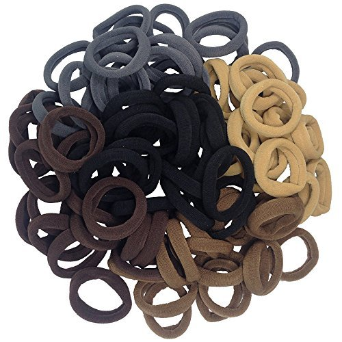 J-MEE Thick Seamless Cotton Hair Bands, Simply Hair Ties Ponytail Holders Headband Scrunchies Hair Accessories No Crease Damage for Thick Hair (Mix Colors)  available at amazon for Rs.2184