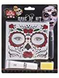 costumebakery-Disfraz Accesorios Accesorios Make Up Set Horror con Tattoo y Maquillaje, Day of The Dead with Tatuajes, Halloween Carnaval