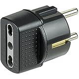 bticino S3625GE Antracita adaptador de enchufe eléctrico - Adaptador para enchufe