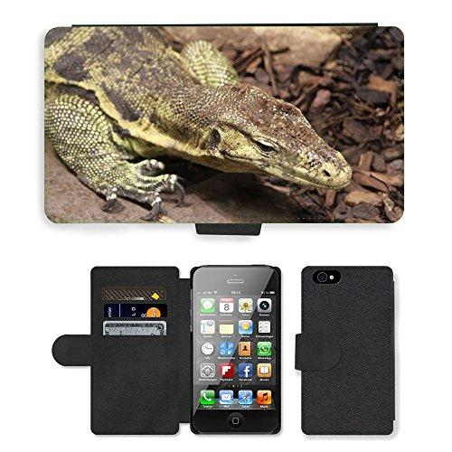Just Mobile pour Hot Style Téléphone portable étui portefeuille en cuir PU avec fente pour carte//m00138257Lézard Animaux Reptile/Animal/Apple iPhone 44S 4G